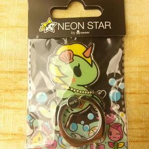 Neon Star Unicorn Seahorse Tokidoki Phon Prop Ring